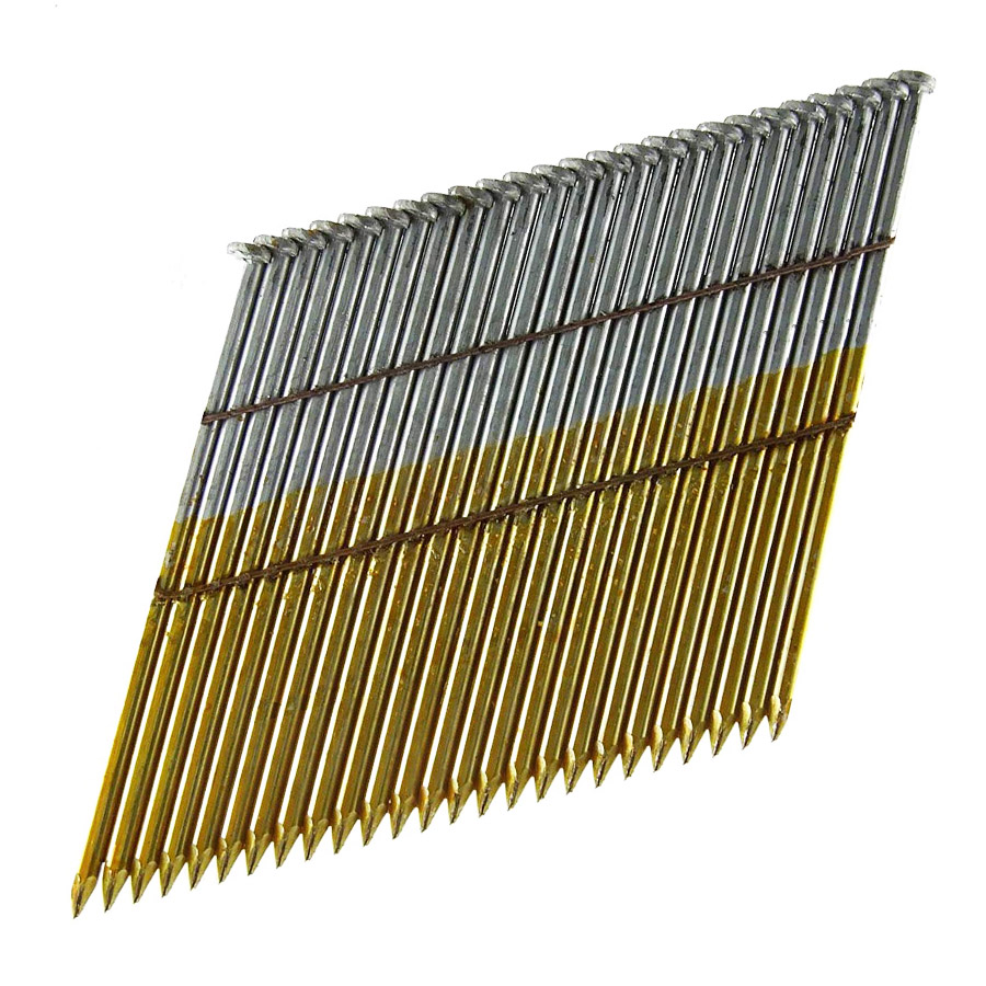 28 Degree Bright Smooth Shank 90mm Wire Collated Framing Nails