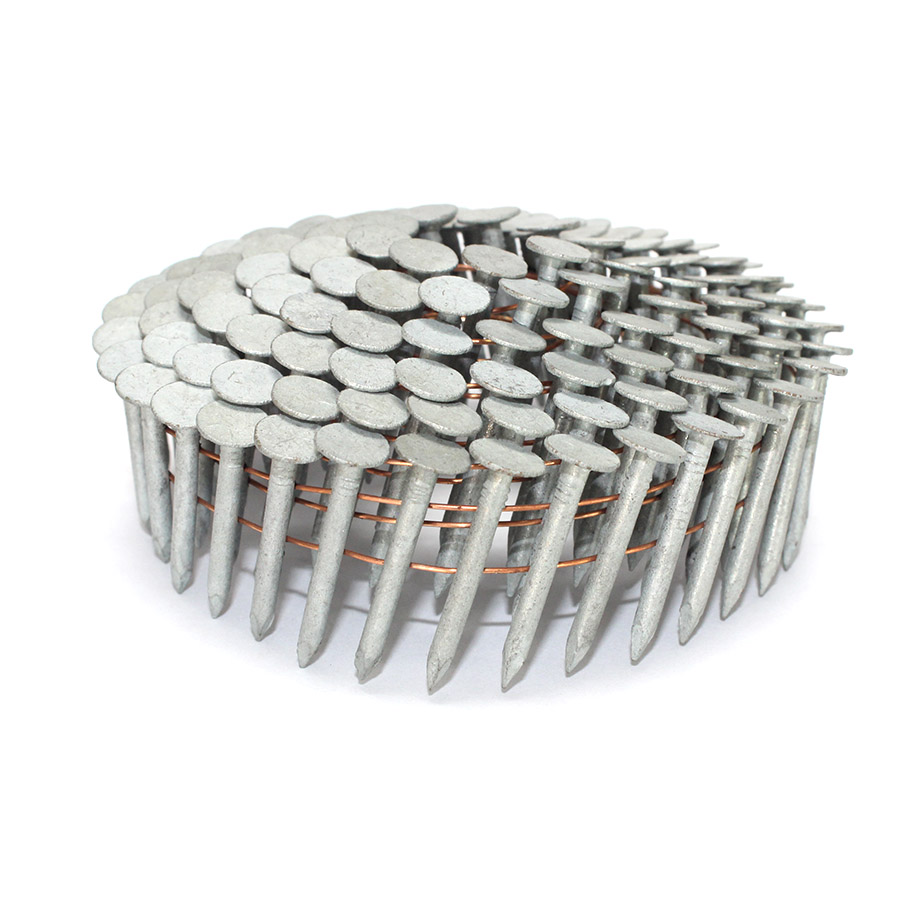 1 In. X 0.120 In. Hot Dipped Galvanized Coil Roofing Nails