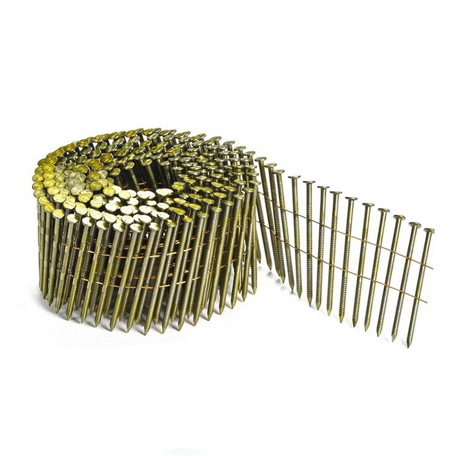 15 Degree Galvanized 1-1/4-Inch Ring Shank Coil Nails