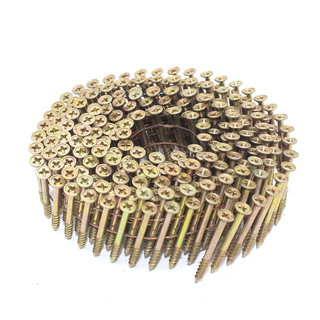 "1-3/8"" x .113"" 15 Degree Wire Coil Philips Head Screw Nails"